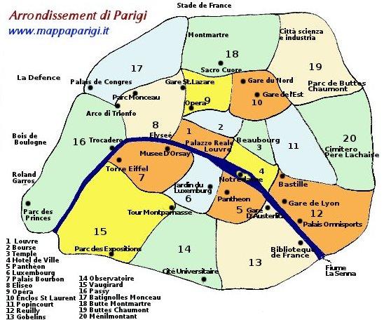Cartina Turistica Di Parigi.Mappe Di Parigi Cartina Stradale Metropolitana E Attrazioni
